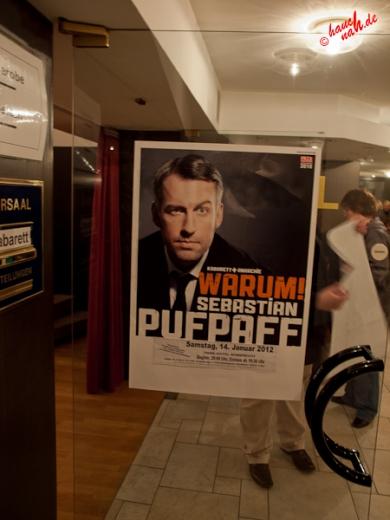 Plakat Sebastian Pufpaff - 14.01.2012 /Foto: Stefan Schmidt