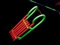 Neon-Foto-Art - Ski und Rodel gut :metabolon