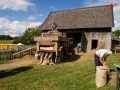 Drescharbeiten - Bauernmarkt im Freilichtmuseum Lindlar /Foto: Stefan Schmidt