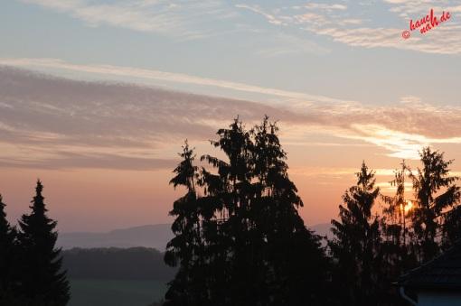 Schöne Aussichten - Sonnenaufgang im September