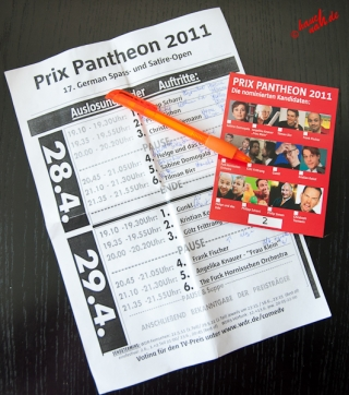 Prix Pantheon 2011 - Arbeitsmaterial
