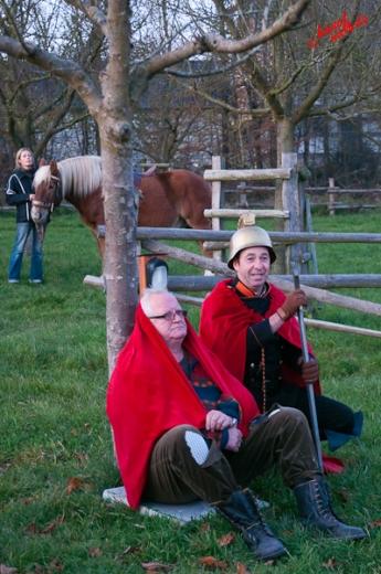 St. Martin teilt seinen Mantel mit dem Bettler - Freilichtmuseum Lindlar am 11.11.2011