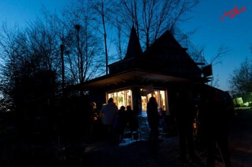 Hochbetrieb am Kiosk - Freilichtmuseum Lindlar am 11.11.2011
