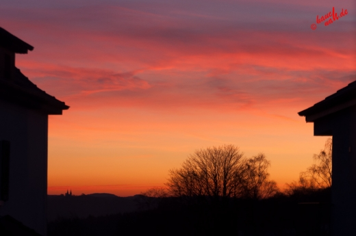 Wintermorgen - Blick aus dem Fenster