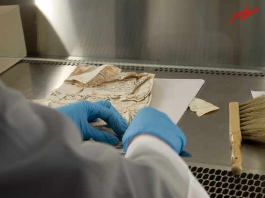 Feinstarbeiten Seite für Seite - Tag der Archive am 03.03.2012 /Foto: LiSi
