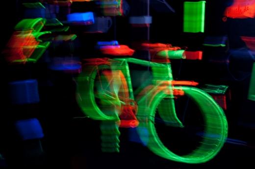 Neon-Foto-Art - Bewegungsunschärfe :metabolon