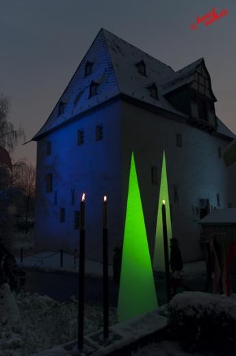 Weihnachtsmarkt auf Burg Overbach in Much