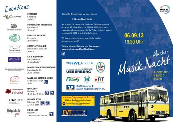 Mucher Musik Nacht 2013 Flyer - Seite 1