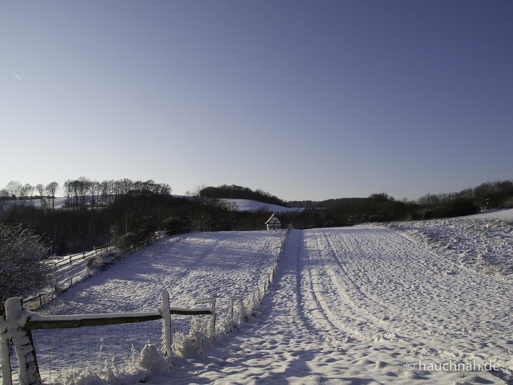 Freilichtmuseum Lindlar - verschneite bergische Landschaft 28.12.2014